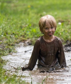 boy in mud