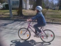 Out biking with my daughter Hannah