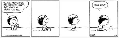 Calvin & Hobbes - sticks and stones